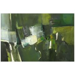 """Janine Collier Oil On Canvas Titled """"Val d'Oise,"""" 20th Century"""