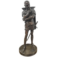 18th Century Bronze Statue of a Shakespearian Character