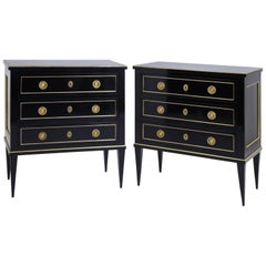 Ebonized Chests of Drawers, 19th-21st Century