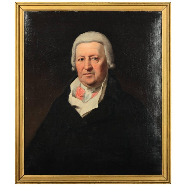 Antique Oil on Canvas 'American Portrait', circa 1790