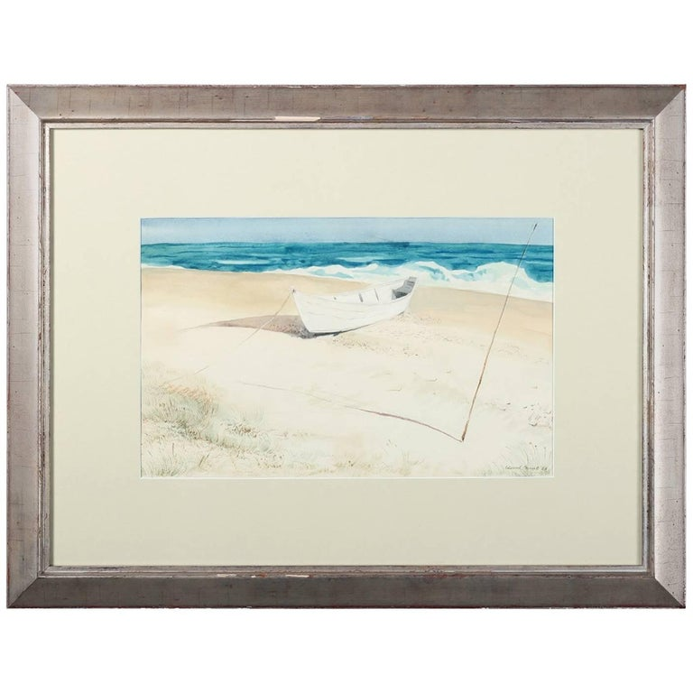 'Cape Henlopen' Watercolor Painting by American Artist Edward Grant, 1952
