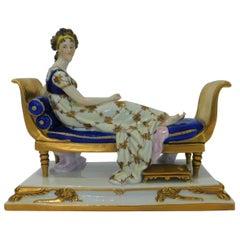 Scheibe Alsbach German Vintage Porcelain Figurine Madame Recamier