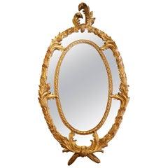 Ornate Carved Wood Mirror