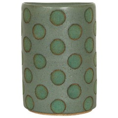 Green Split Polka Dot Vases by Matthew Ward