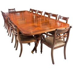 Early 20th Century Twin Base Regency Style Dining Table