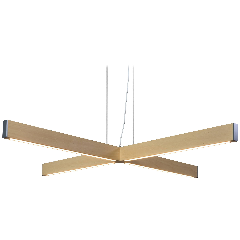 2x4 Plus Pendant in Natural Wood