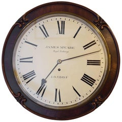 Victorian Drumhead Dial Clock
