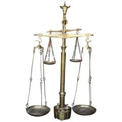 Early 20th Century Very Large Brass Butchers Scales