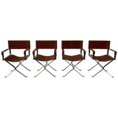 Vintage Alessandro Albrizzi Director Armchairs, Set of Four