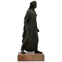 Antique Bronze Sculpture of Biblical Man