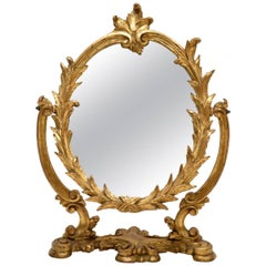 Antique Italian Giltwood Vanity Mirror