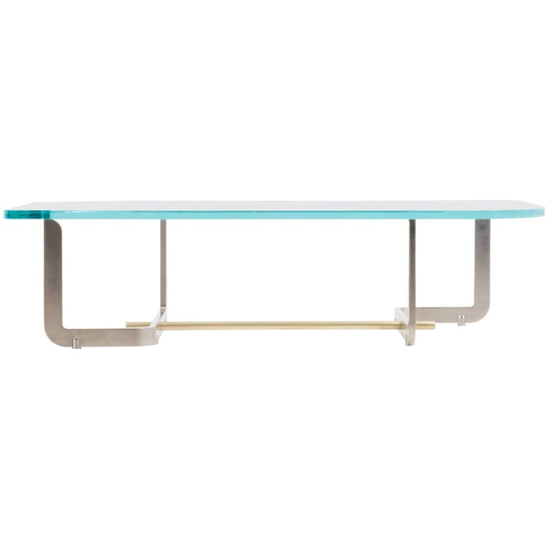 Q Coffee Table, Glass and Steel