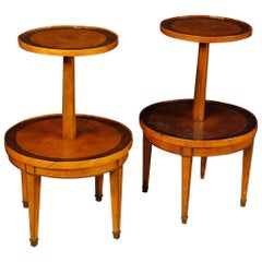 Pair of French Étagères in Inlaid Wood from 20th Century