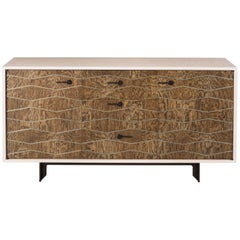 Kip Credenza, American Hardwood and Steel