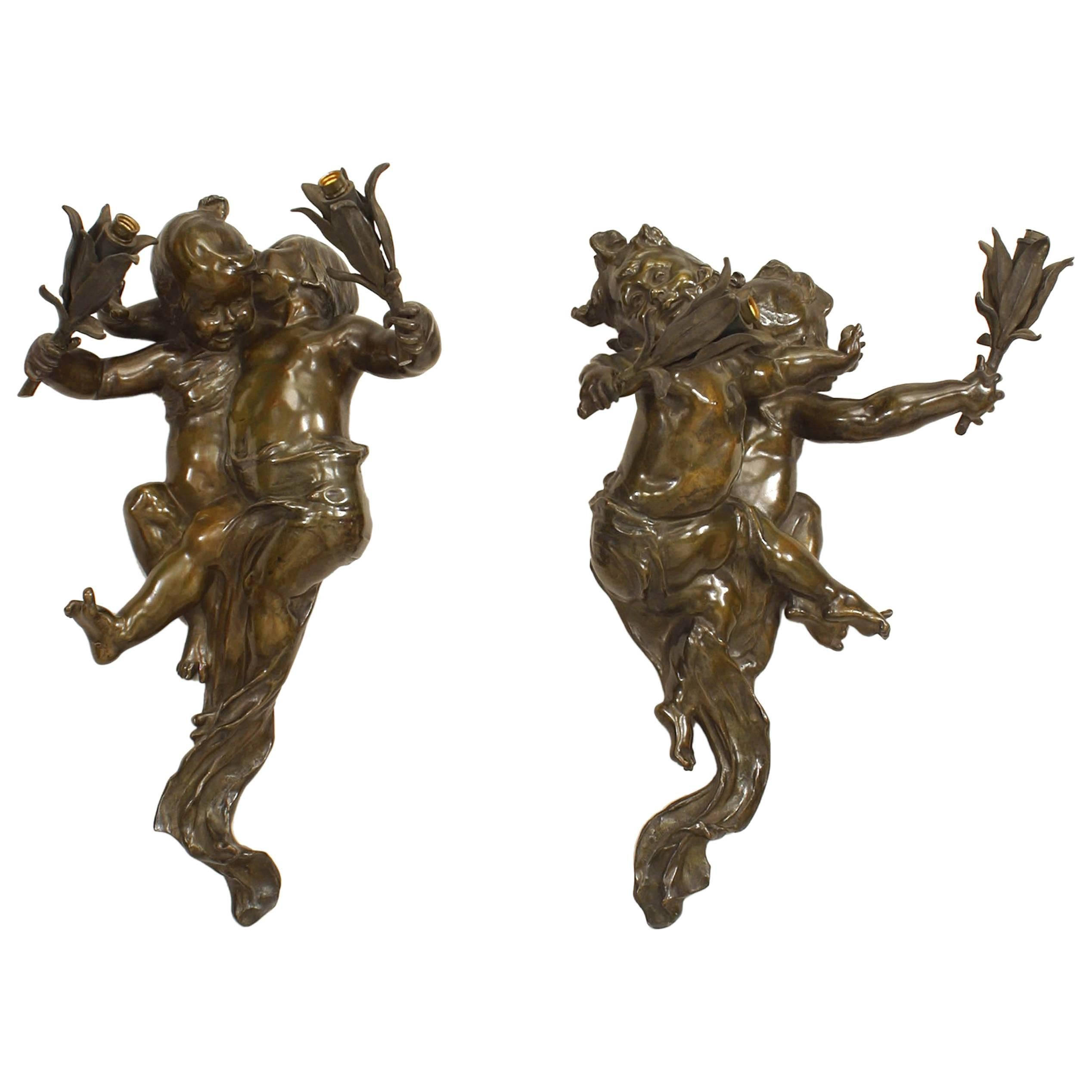 Pair of French Victorian Bronze Two-Arm Wall Sconces u0027Signed JOSEPH CHERETu0027  sc 1 st  1stDibs & Victorian Wall Lights and Sconces - 66 For Sale at 1stdibs