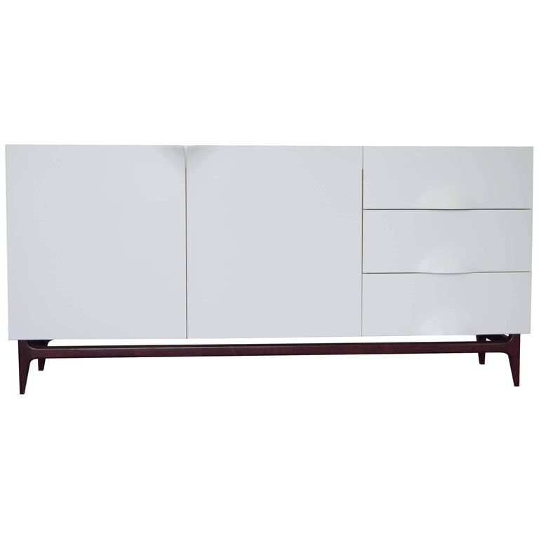 Folio Sideboard, Corian and Amarante Sideboard For Sale