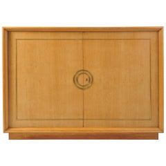 Art Deco Oak and Brass Sideboard
