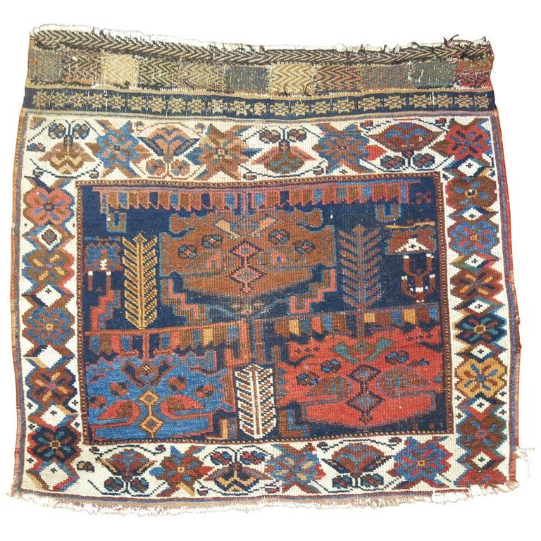 Antique Persian Bagface Rug