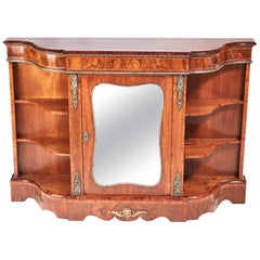 Fine Quality Victorian Burr Walnut Credenza