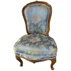 19th Century French Boudoir Chair in Louis XV Style