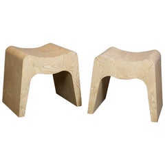 Stylish Modern Cerused Oak Benches