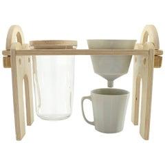 Savant Pour over Set, Matte Grey Coffee Set, Modern Contemporary Porcelain