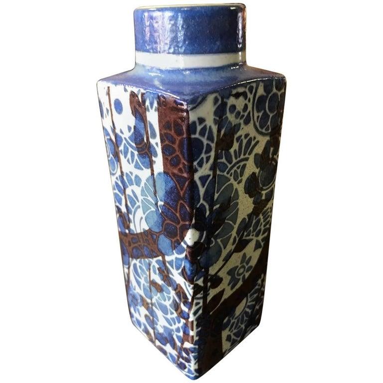 Fajance Vase By Nils Thorsson Baca Royal Copenhagen For Sale At 1stdibs