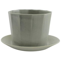Native Planter Matte Grey Planter Modern Contemporary Glazed Porcelain