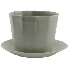Native Planter Matte Grey Planter Modern Contemporary Glazed Porcelain
