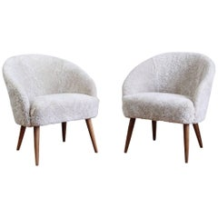 Pair of Easy Chairs by Ejvind A. Johansson