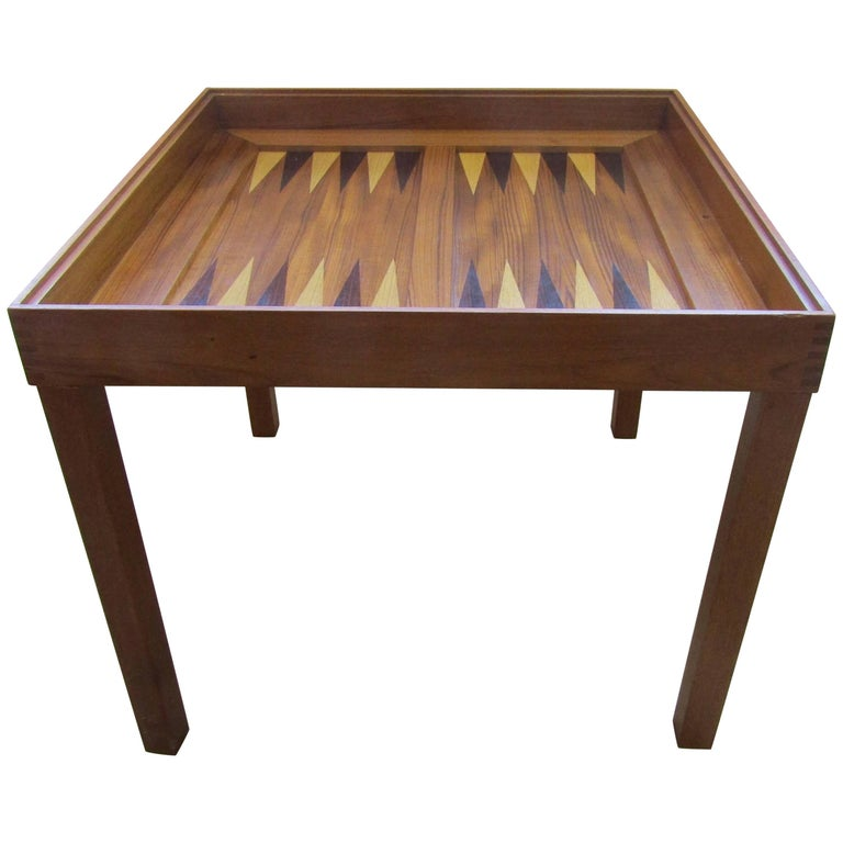 Game Table In Teak By Skovby With Chess And Backgammon Boards