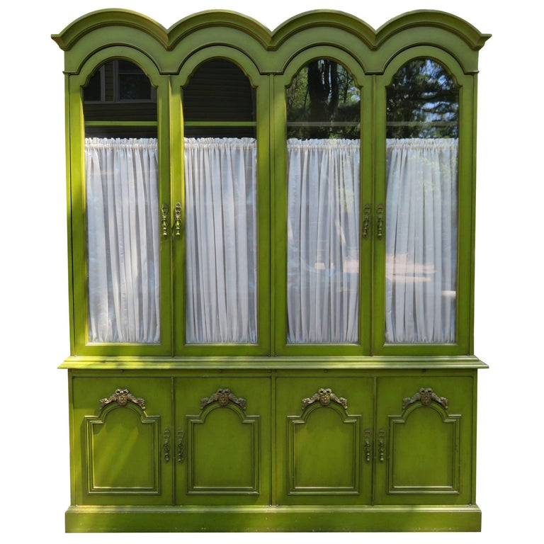 Stunning Dorothy Draper Style French Provincial Hutch Credenza Hollywood Regency