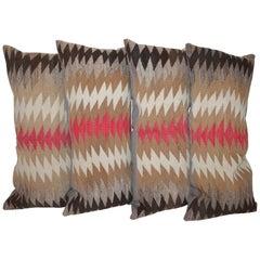 Set of Four Navajo Sawtooth Pillows