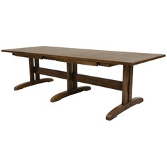 Vintage Mission Arts & Crafts Style Oak Coffee Table