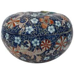 19th Century Japanese Porcelain Lidded Floral Bowl