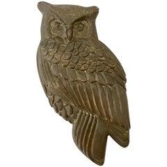 Vintage Solid Brass Owl Door Knocker