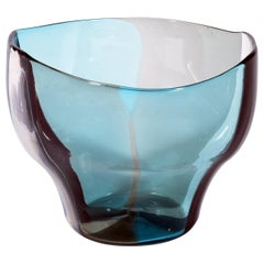 "Venini Fulvio Bianconi Murano Glass ""A Spicchi"" Serie Vase Midcentury 1950s"