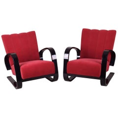 Completely Restored Pair of Art Deco Armchairs by Miroslav Navrátil