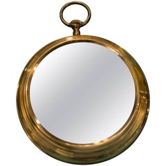 Midcentury Couple of Bronze Watch Mirrors