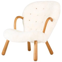 "Sheepskin ""Clam Chair"" by Philip Arctander"
