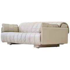 De Sede Leather Sofa Daybed Canapé Chaise Longue