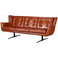 Skjold Sørensen Three-Seat Leather Sofa