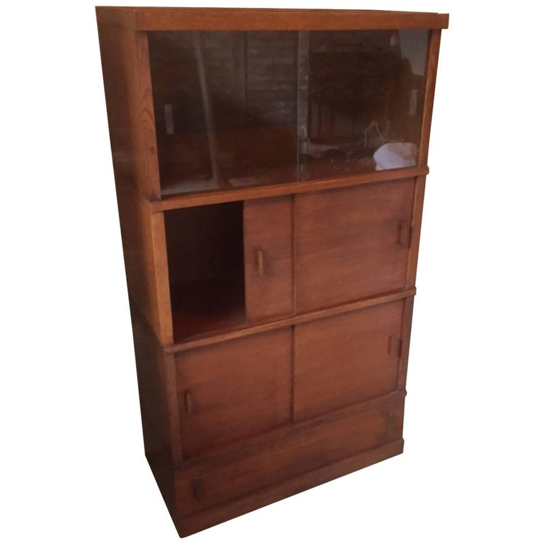 French Sliding Glass Doors Library Or Bookcases 1950s For Sale At