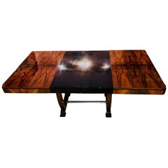 Art Deco Extending Table, Walnut Veneer, France circa 1930
