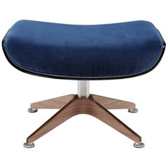 Saint Luc 'Coach' Ottoman in Blue by J.M. Massaud
