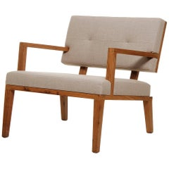 Lounge Chair Joliu Made of Tropical Hardwood in Brazilian Contemporary Design