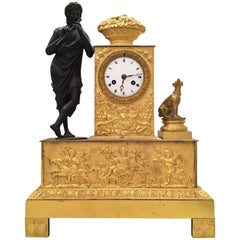 Early 19th Century French Gilt Bronze Pendulum Clock with Dionysus