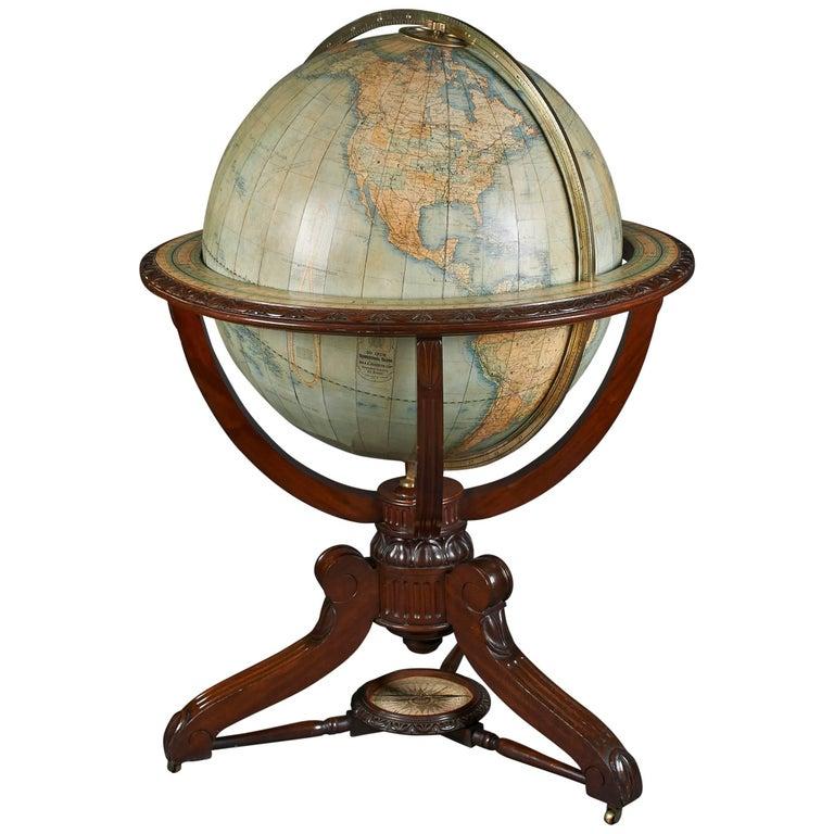Monumental Scottish Globe on Stand, circa 1924