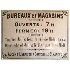 French Enamelled Sheet Metal Advertising Sign