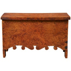 Miniature Blanket Chest of Burl Maple